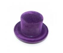 Kadife Kaplı Şapka Kutu Mor