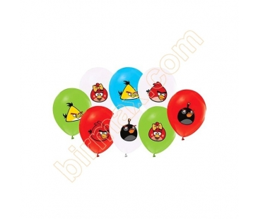 10 adet Angry Birds Temalı Latex Balon