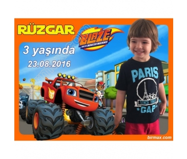 Doğum günü magneti Blaze and the Monster Machines