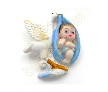Mavi Leylekte Kundakta Bebek