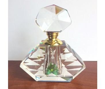 Prizma Kristal Kesim parfüm şişesi - 9cm x 10cm