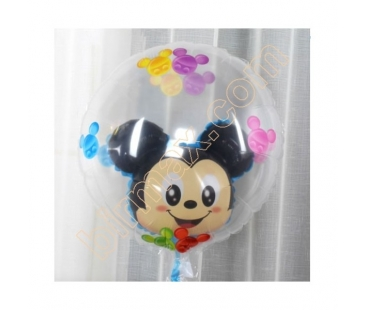 Seffaf Balon içinde Minnie Mouse 2li balon