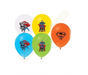 Superman Temalı Latex Balon