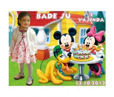 Doğum Günü Magnetleri Mickey Mouse Mavi Buzdolabı Magneti
